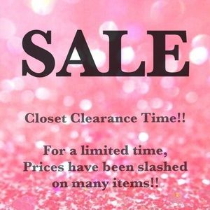 SALE TIME!! Many items marked down